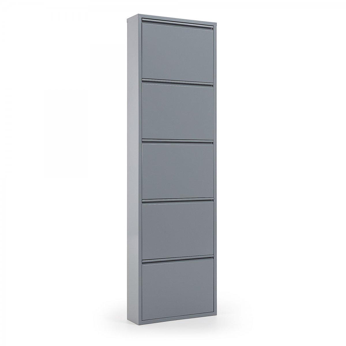 Keihome Linea J Scarpiera ODE 5 ante metallo grigio