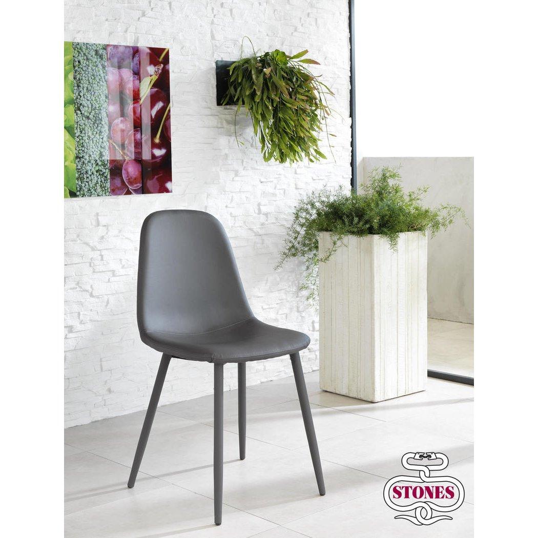 Stones: SEDIA ANNALISA in ecopelle Stones | tavoli e sedie