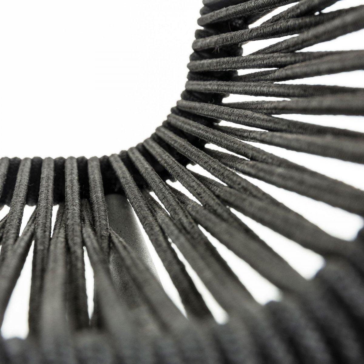 Keihome Linea J LAMBTON Sedia metallo nero corda nero