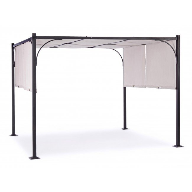 Bizzotto Yes Everyday GAZEBO SLIDE ANTRACITE-GRIGIO 3 X 3 M