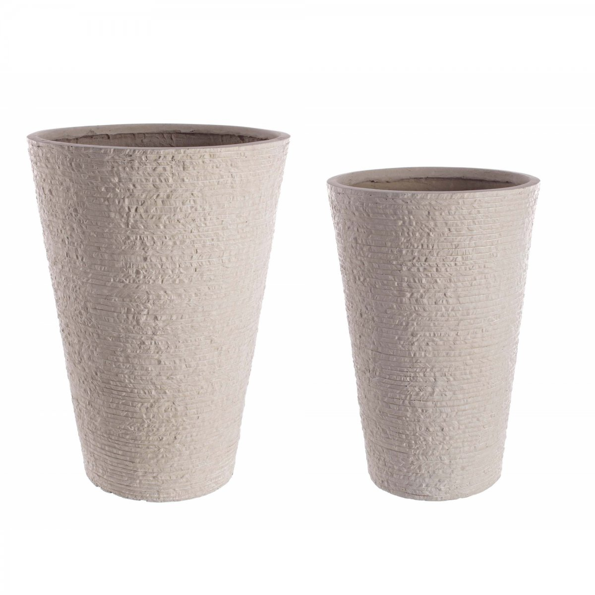 Bizzotto Home Emotion SET2 VASO ROCCIA ALTO NATURA