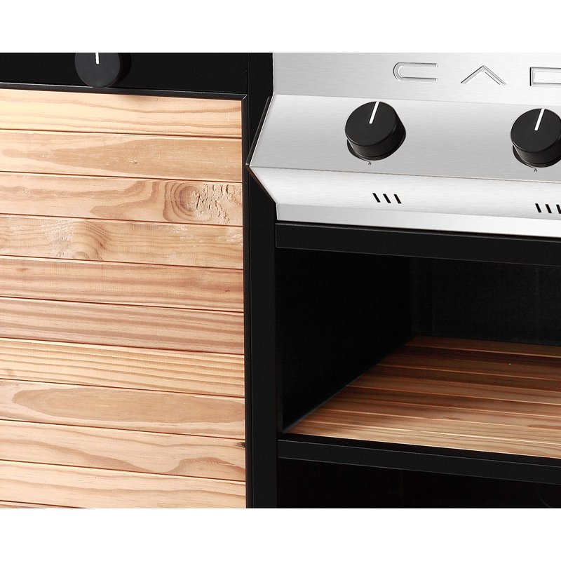 Fontana Forni BARBECUE A GAS MERIDIAN WOODY