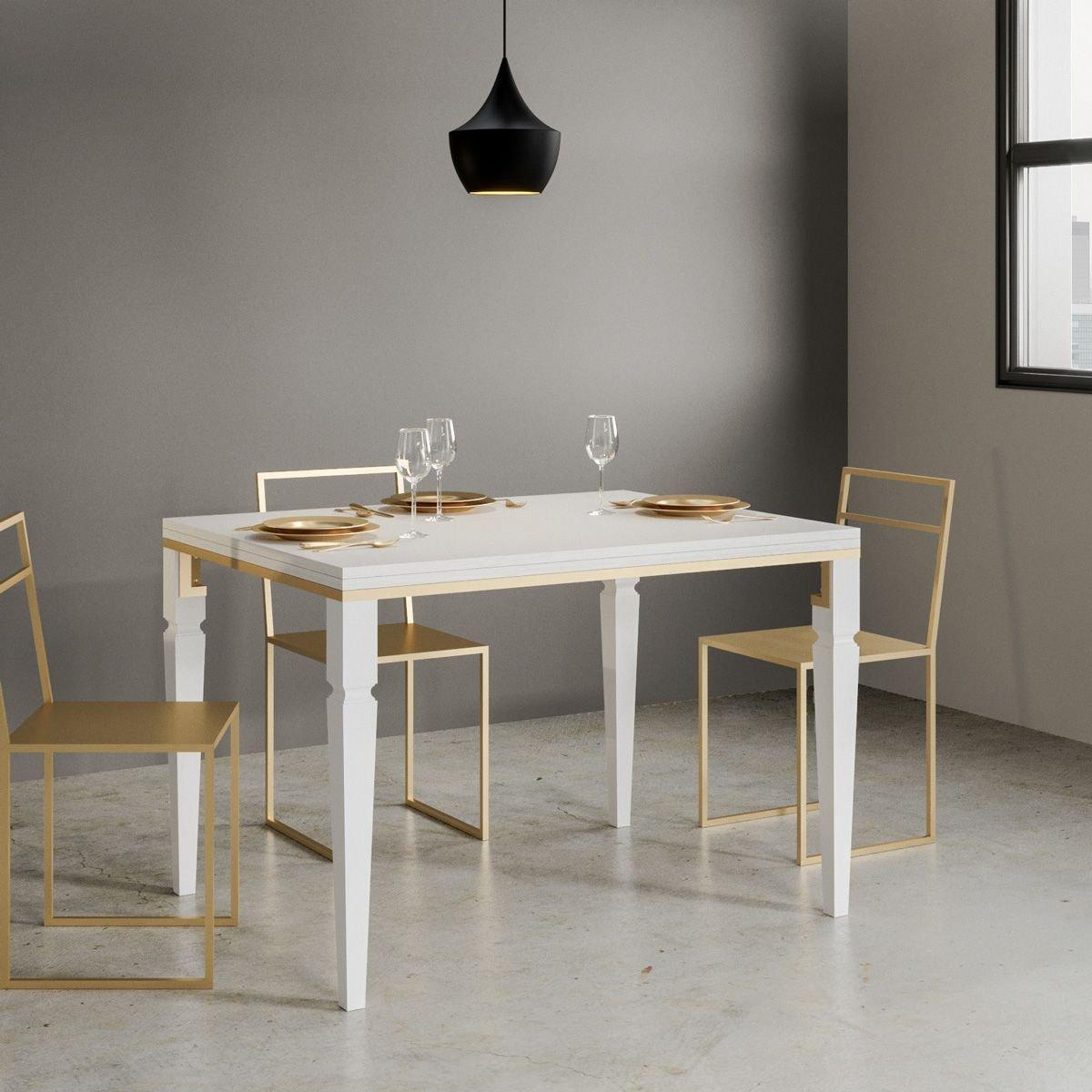 Itamoby Tavolo Impero Libra Allungabile Rettangolare Legno Bianco Frassino 120 X 90 Itamoby Tavoli E Sedie Tavoli