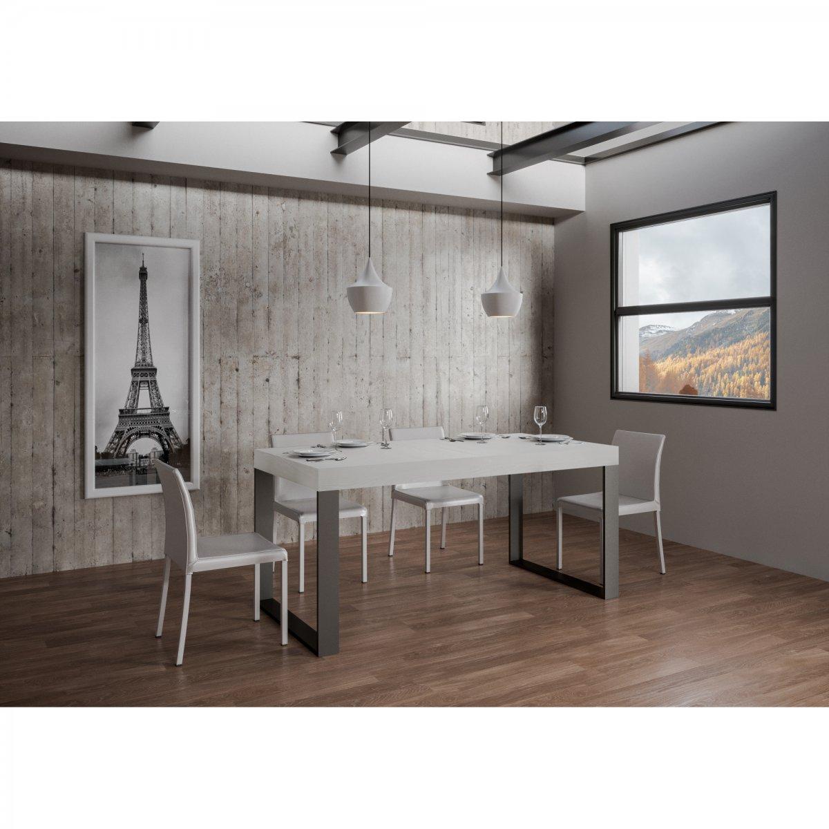 Itamoby: Tavolo Tecno FIX rettangolare legno bianco ...