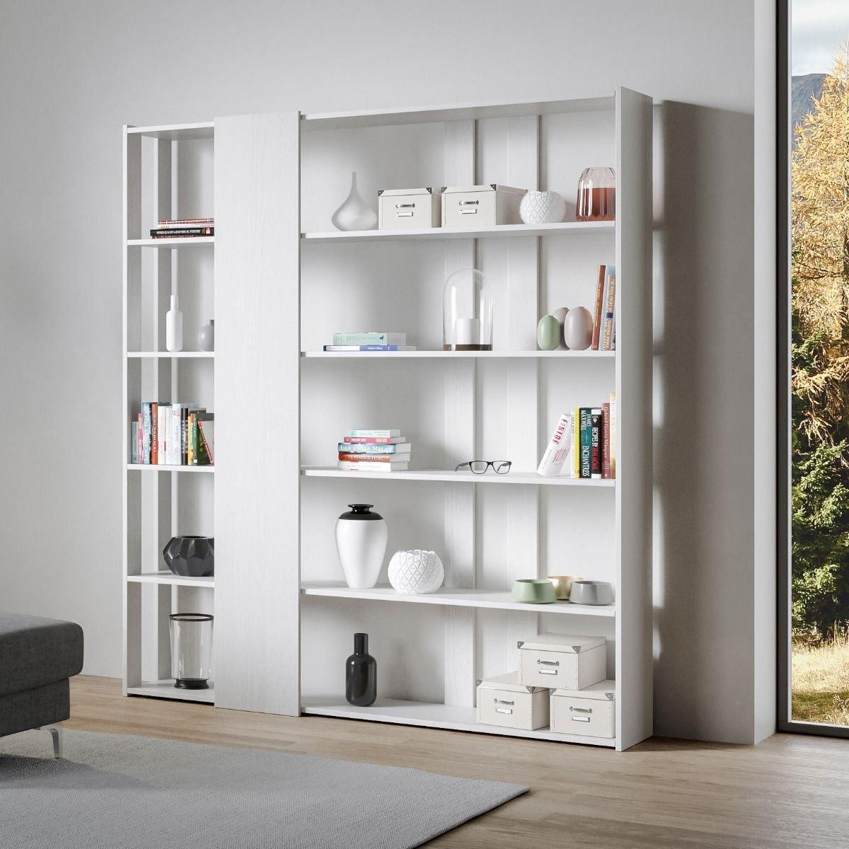 Itamoby Composizione Soggiorno Libreria A Parete Kato D Bianco Frassino