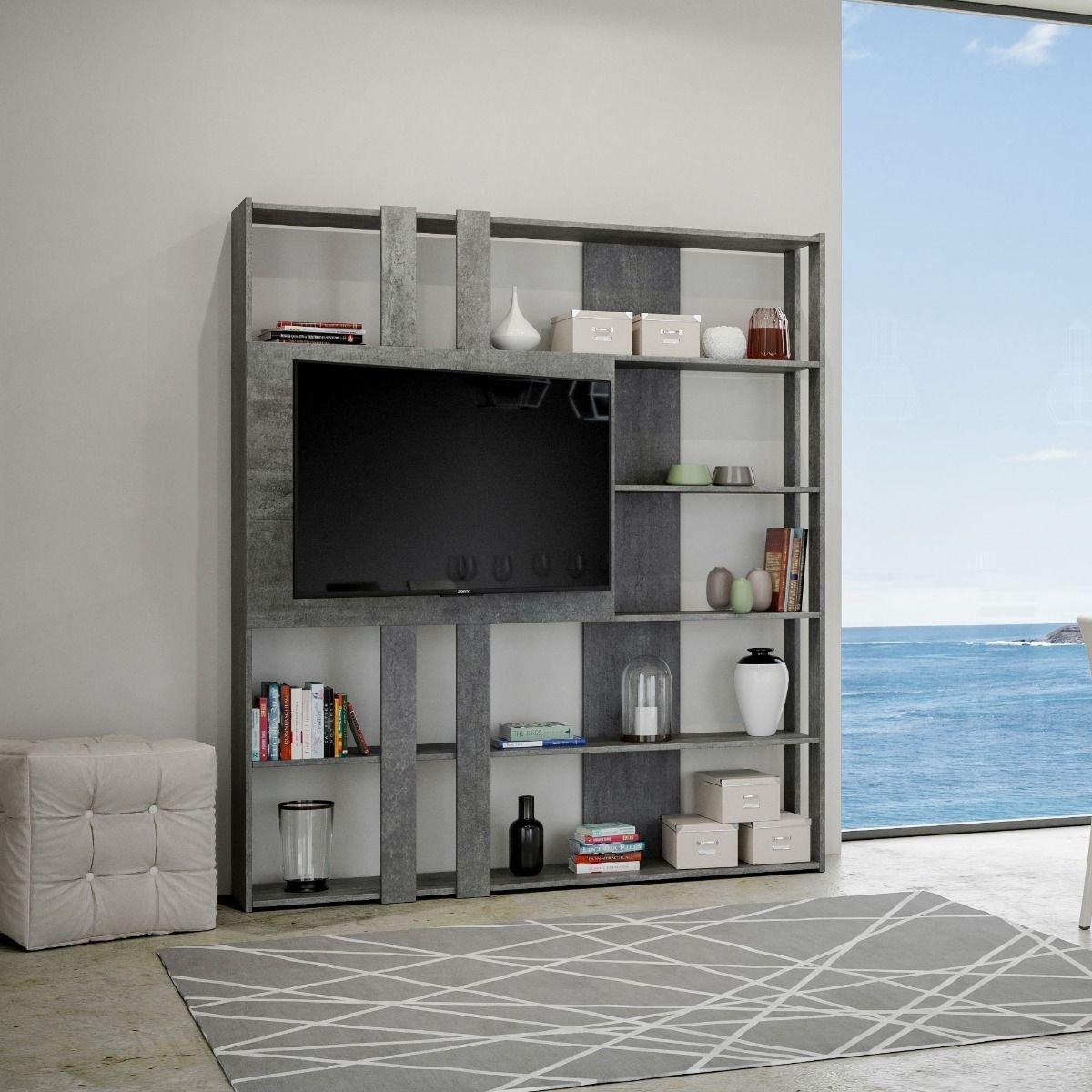 Itamoby Composizione Soggiorno A Parete Kato L Porta Tv Cemento