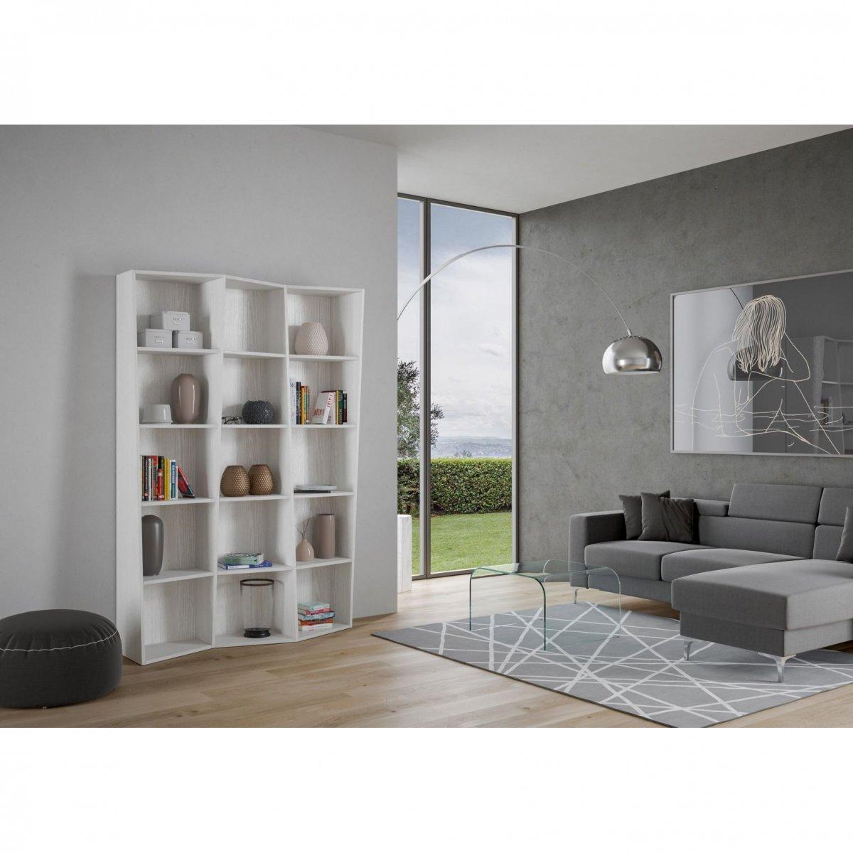 Itamoby Libreria Trek 3 in legno Bianco Frassino
