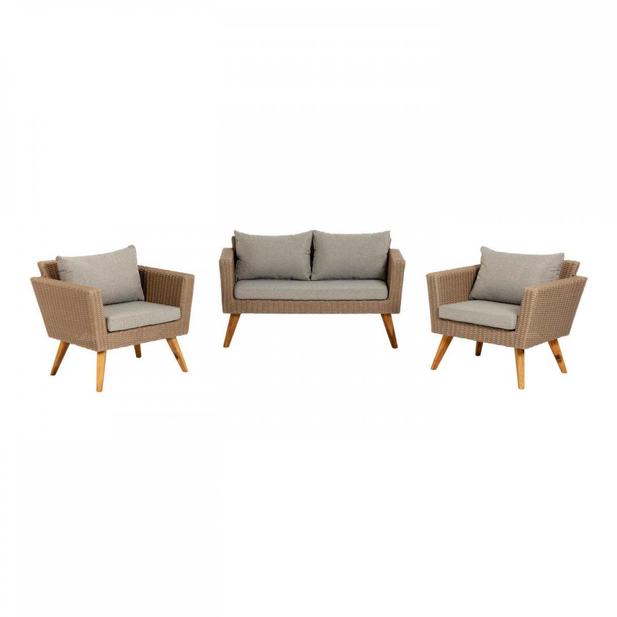 Keihome Linea J Set salottino Sumie divano e 2 poltrone