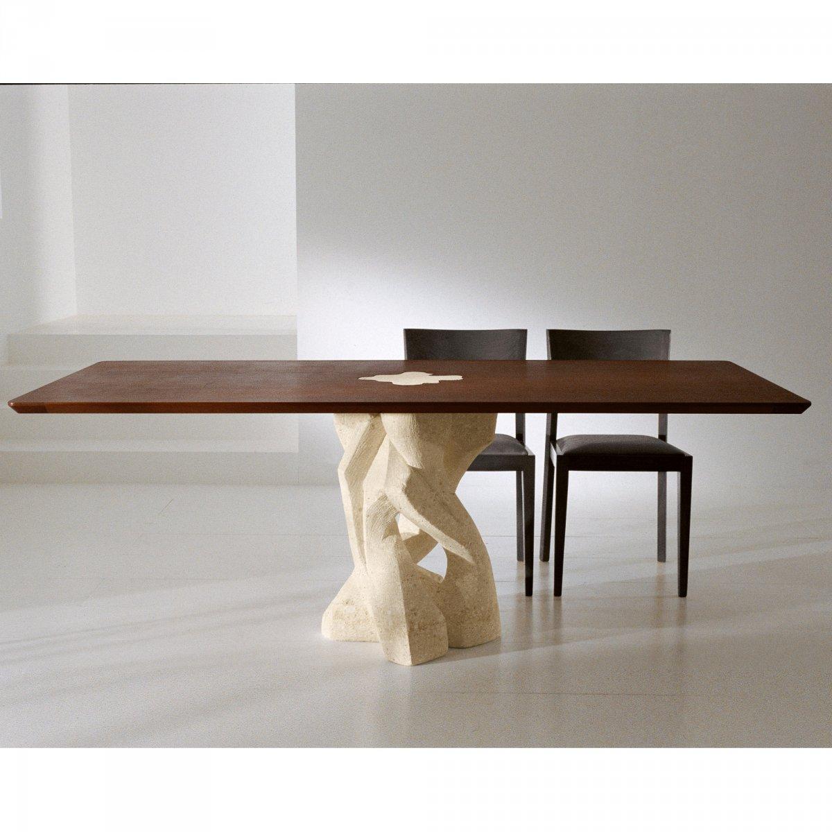 Tavoli In Pietra E Cristallo.Ldm Laboratorio Del Marmo Tavolo Alex Wood Rettangolare Vetro Ldm