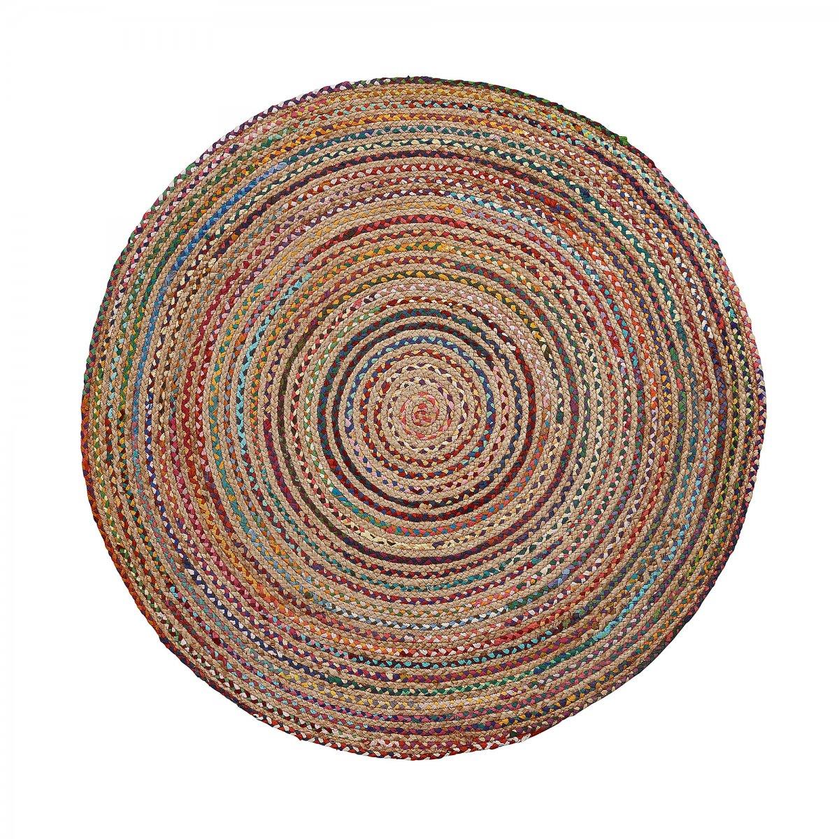 Keihome Linea J Tappeto Saht rotondo 150 cm multicolore