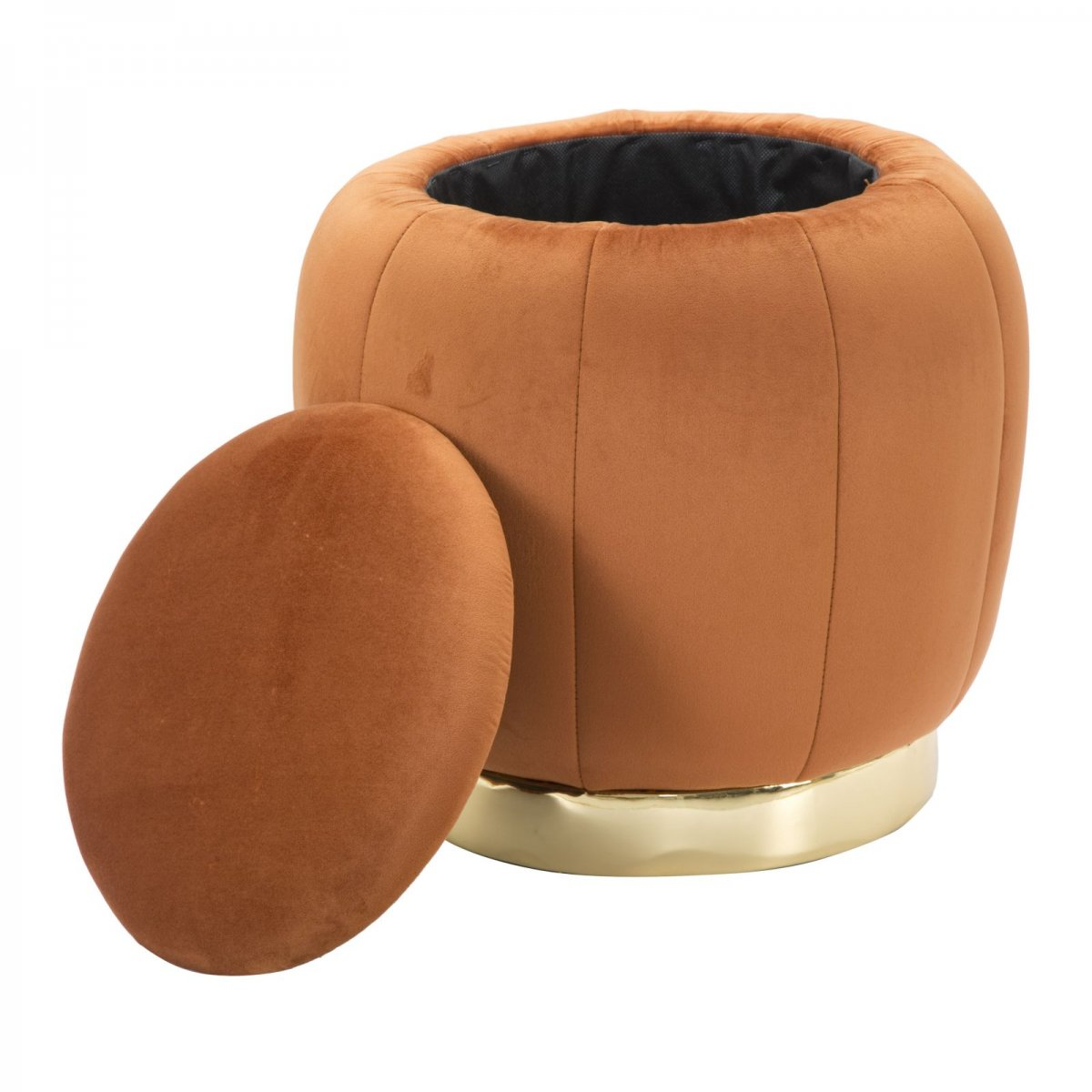 Keihome Look POUF CONTENITORE PARIS ARANCIO RUGGINE