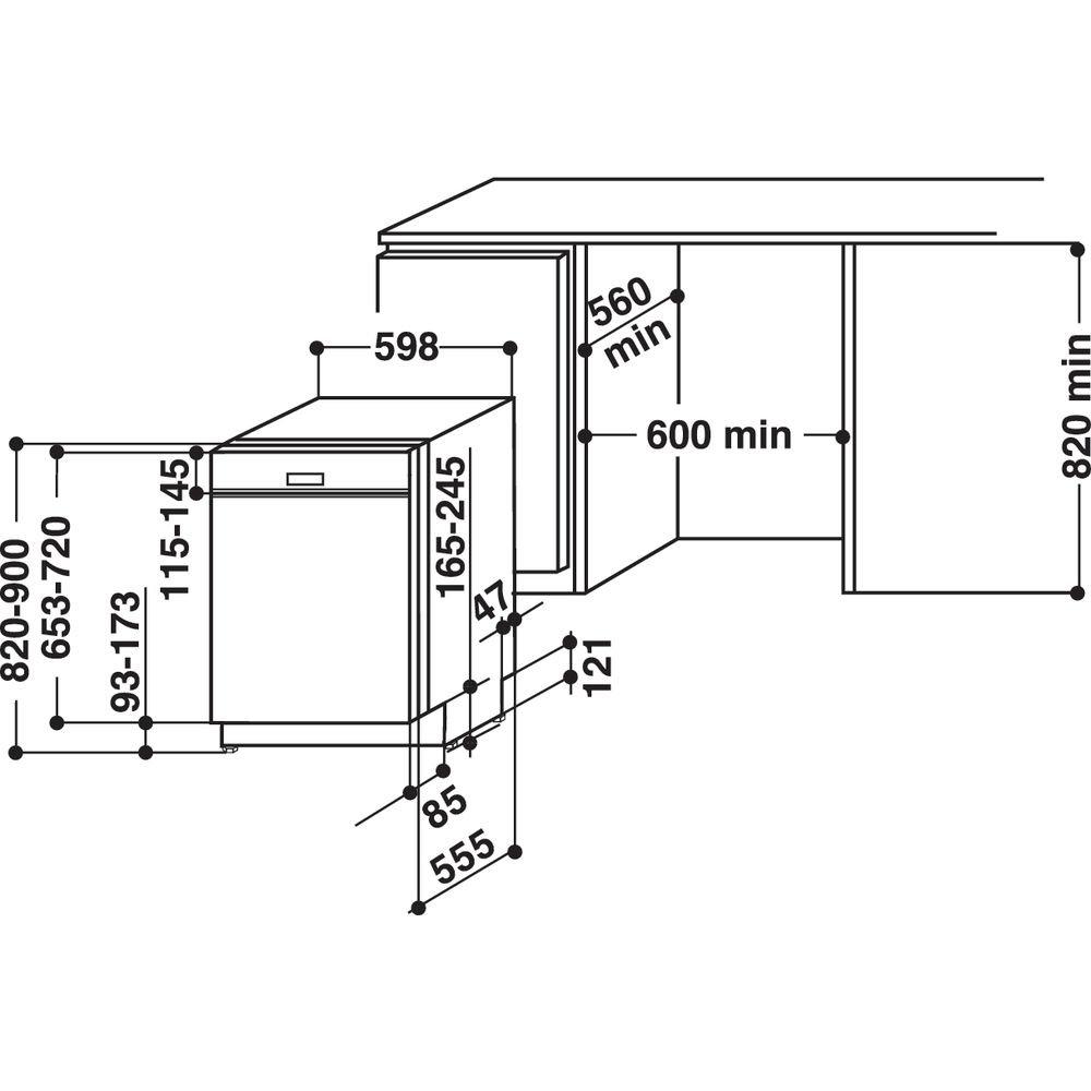 Whirlpool LAVASTOVIGLIE A++ WB6020PX