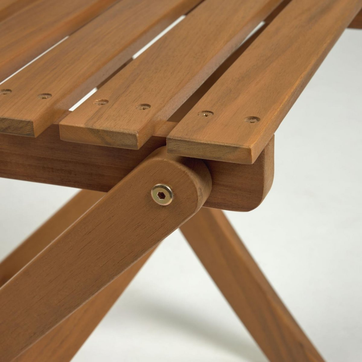 Keihome Linea J Set Elisia tavolo e 2 sedie pieghevoli da esterno in legno