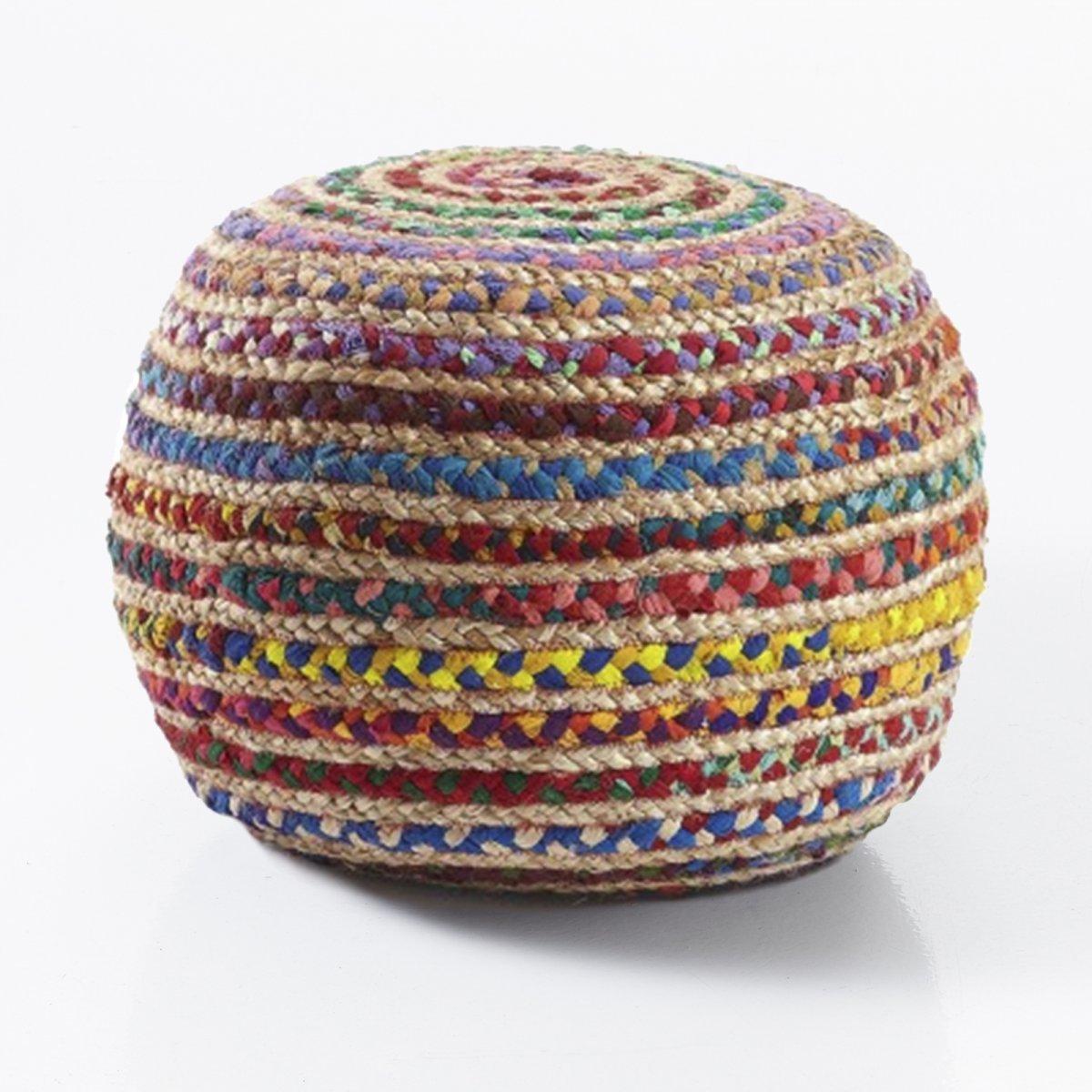 Tomasucci pouf RAINBOW juta e cotone