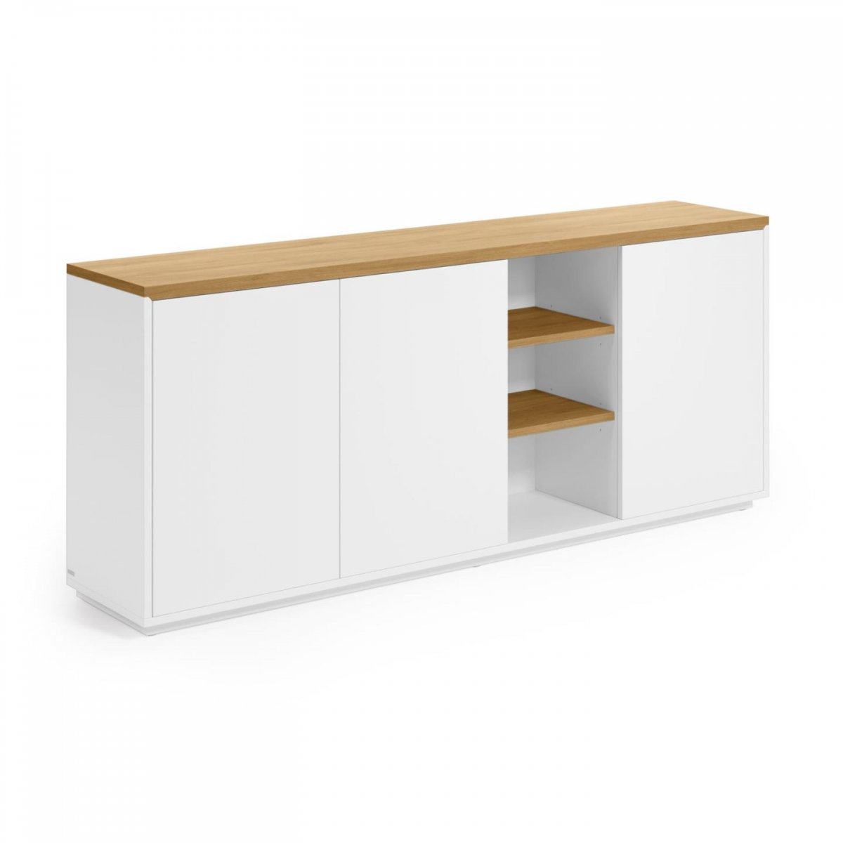 Keihome Linea J Credenza Abilen in legno e laccato bianco