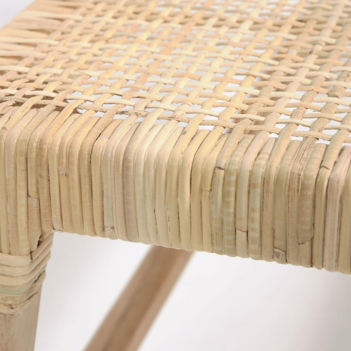 Keihome Linea J Panca Beida in legno e rattan