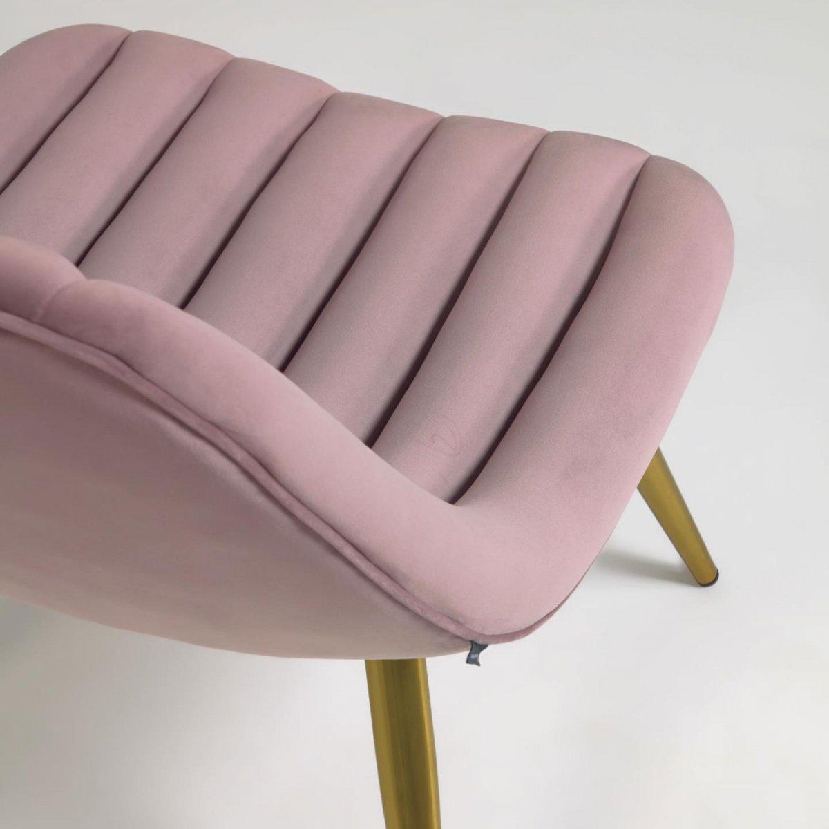 Keihome Linea J Poltrona Marlene in velluto rosa