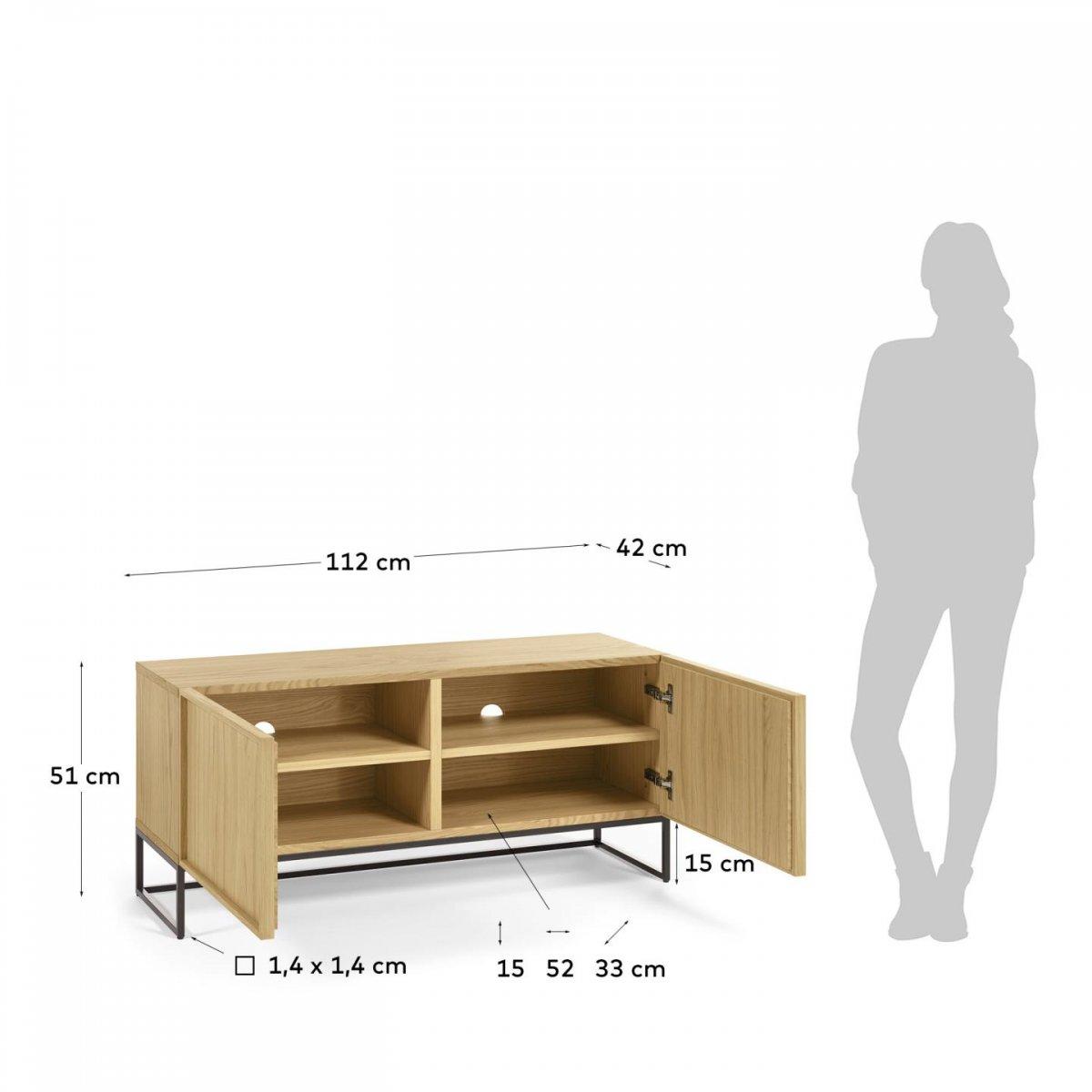 Keihome Linea J Mobile TV Taiana in legno e metallo