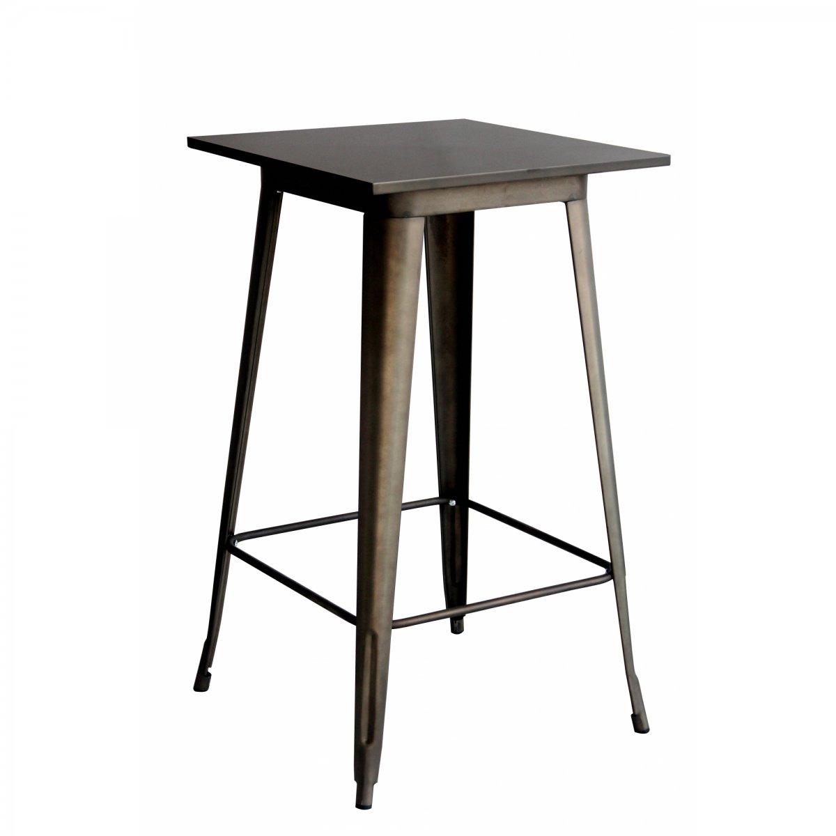 Loft Tavolo alto bistrot quadrato metallo 60 LF605