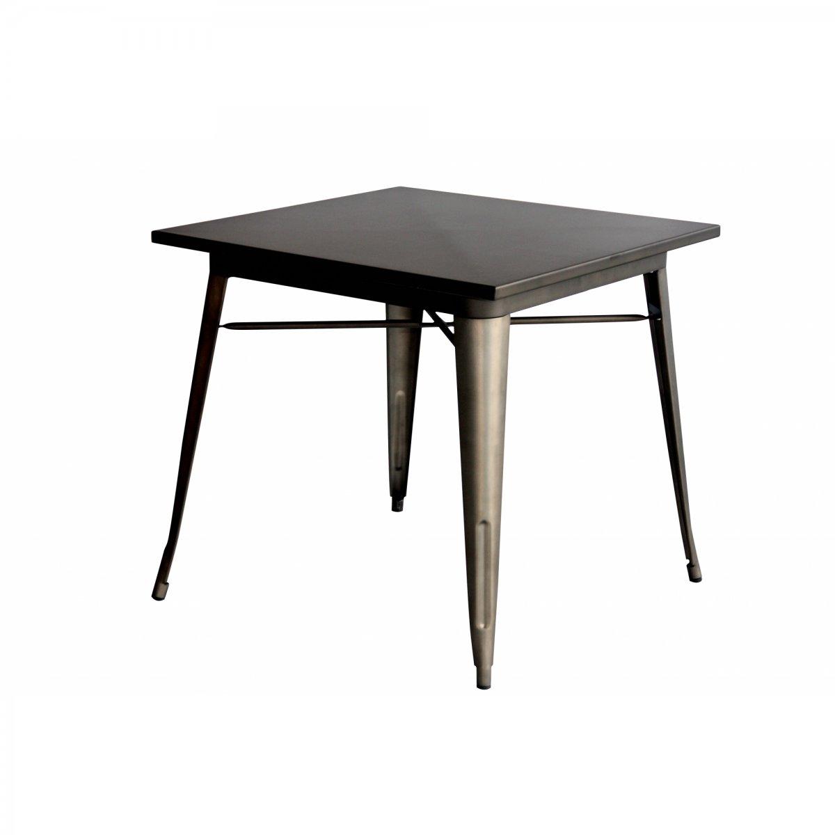 Loft Tavolo bistrot quadrato metallo 80 LF606
