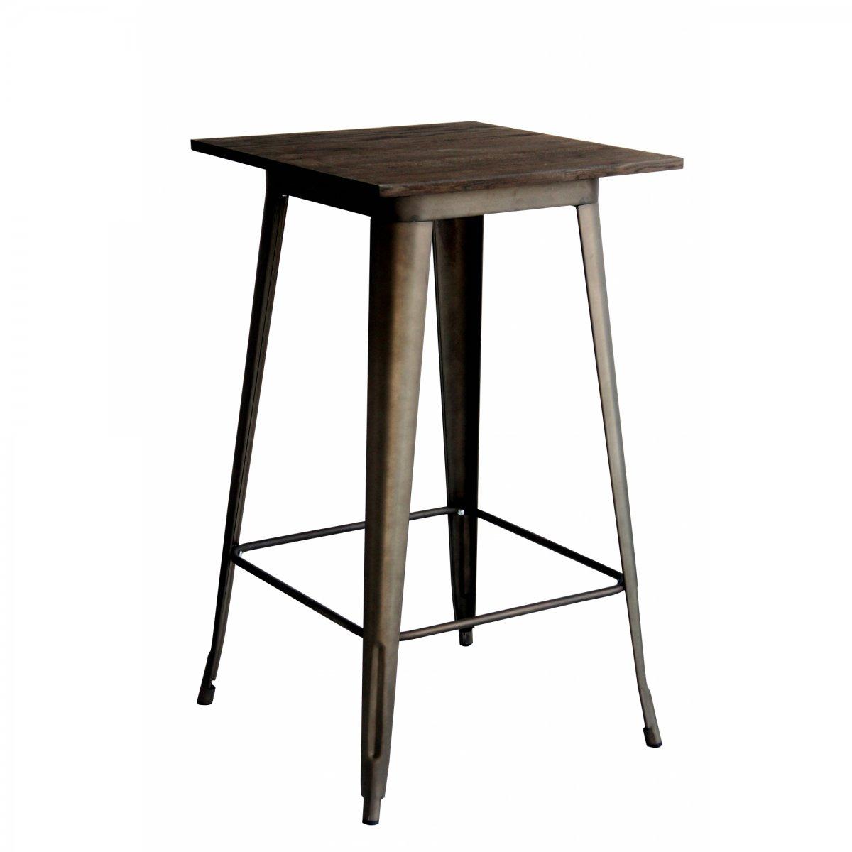 Loft Tavolo alto bistrot quadrato LEGNO 60 LF610
