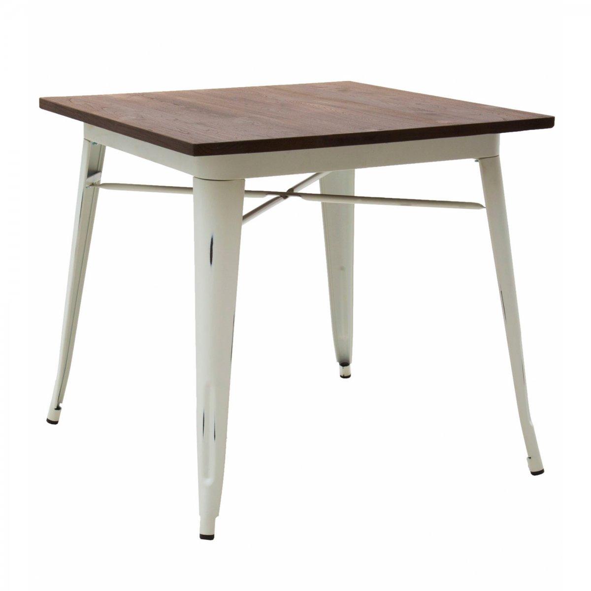 Loft Tavolo bistrot quadrato legno 80 LF613