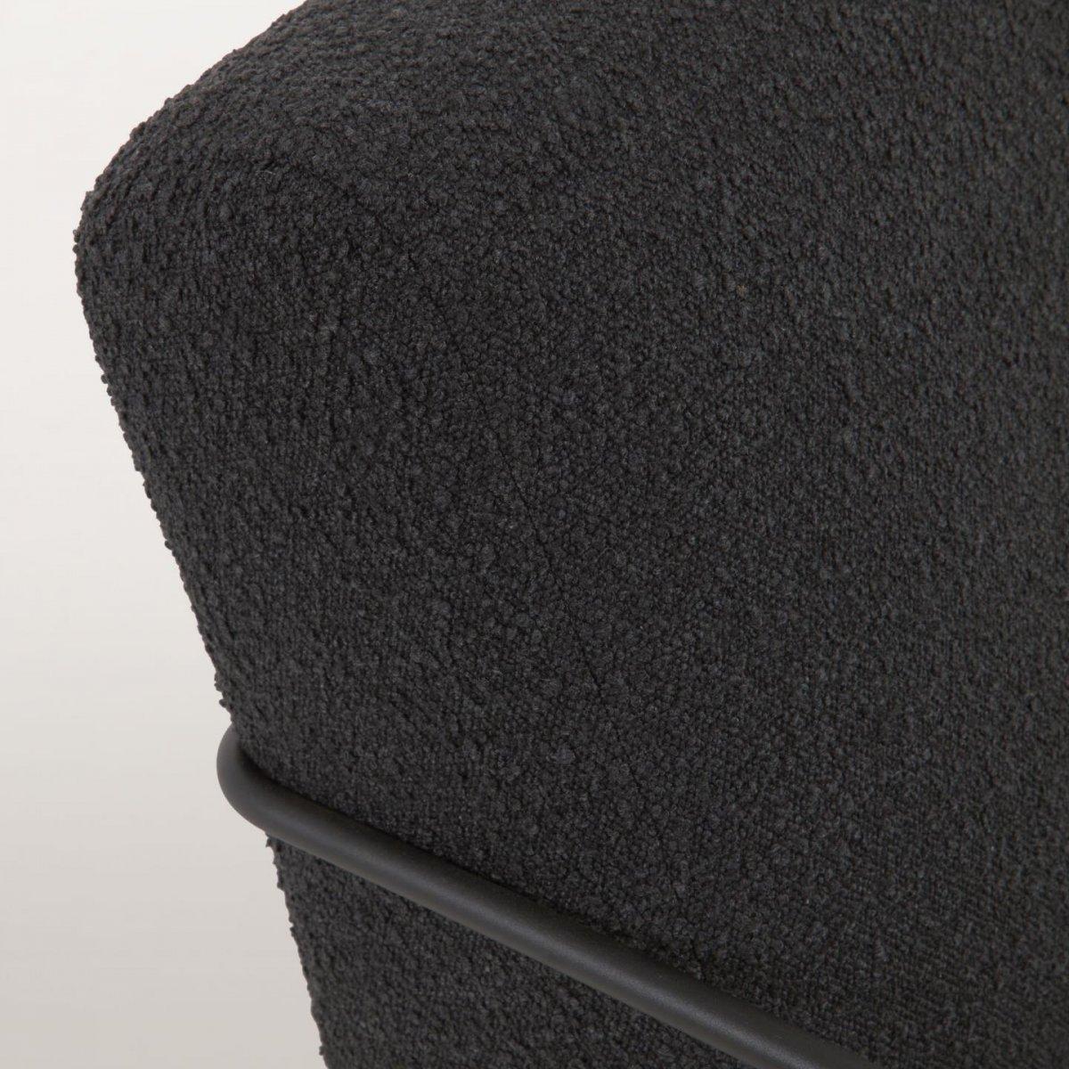 Keihome Linea J Poltrona Gamer in tessuto shearling nero