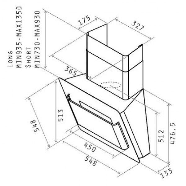 Elica: CAPPA BELT INOX 80 Elica   elettrodomestici - cappe