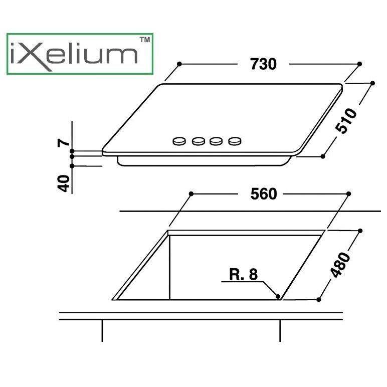Whirlpool piano cottura linea ambient ixelium gma7522ixl for Costo ascensore esterno 4 piani