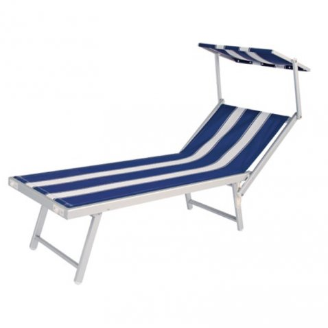 Bizzotto yes everyday lettino mare alu tex bianco o righe bianco blu bizzotto yes everyday - Lettini piscina ikea ...