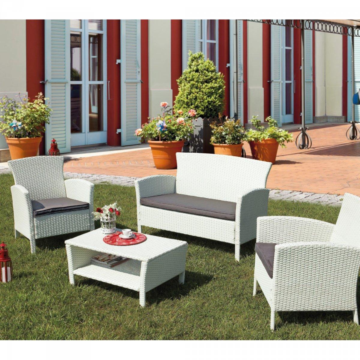 Bizzotto salotto hop con cuscini bizzotto giardino for Completi da giardino
