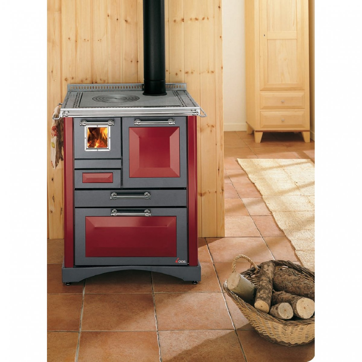 Cadel cucina a legna rubino cadel elettrodomestici - Cucine economiche a legna prezzi ...