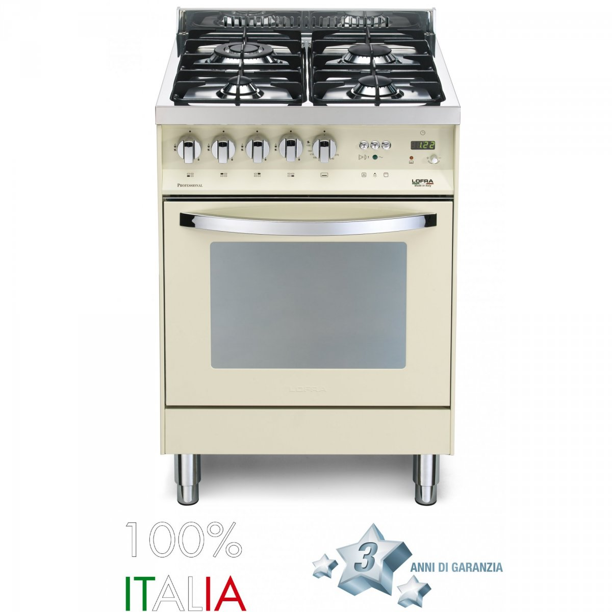 Lofra cucina rainbow 60 avorio 4 fuochi forno elettrico pbi66mftc lofra elettrodomestici cucine - Cucine a gas ikea ...