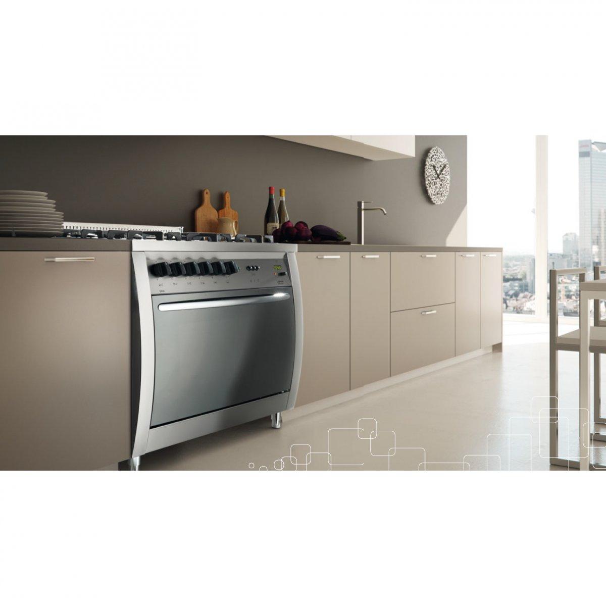 Lofra cucina curva 70 inox forno gas c76gvc lofra elettrodomestici cucine - Elettrodomestici cucina a gas ...