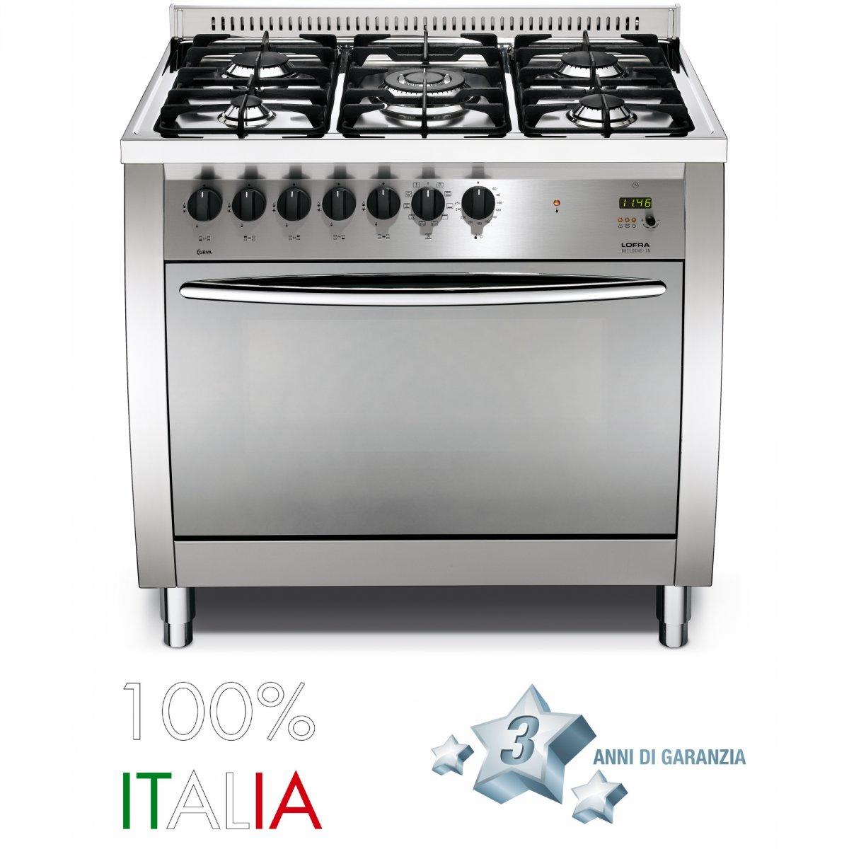 Lofra cucina curva 90 inox forno gas cg96gvc lofra elettrodomestici cucine - Elettrodomestici cucina a gas ...