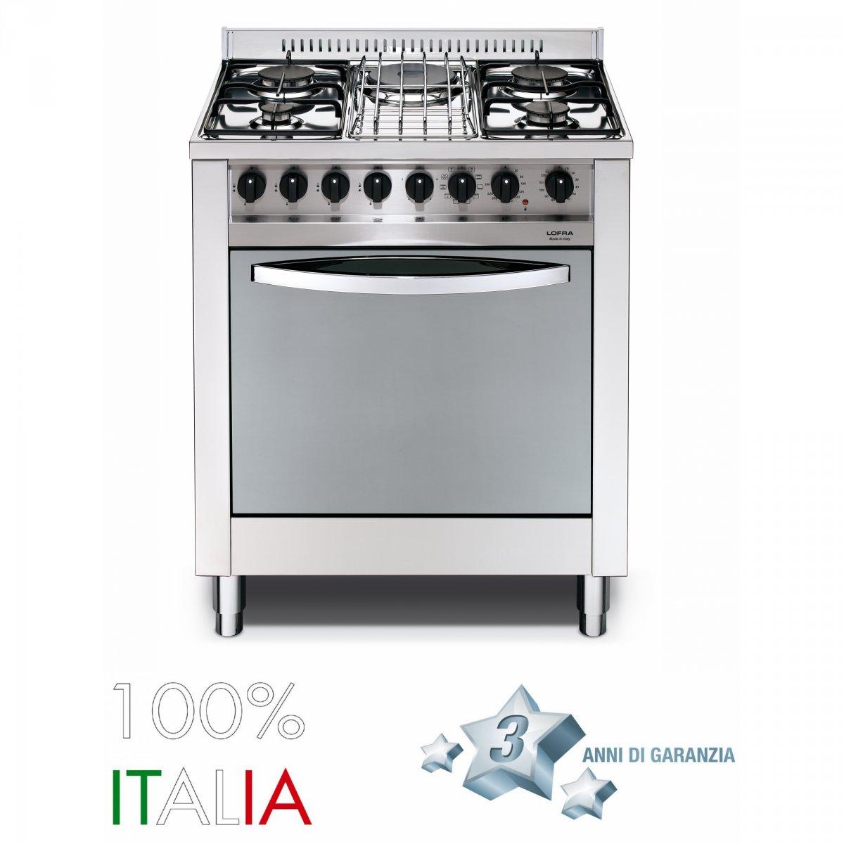 Lofra cucina neomaxima 70 forno gas 75 lofra - Elettrodomestici cucina a gas ...